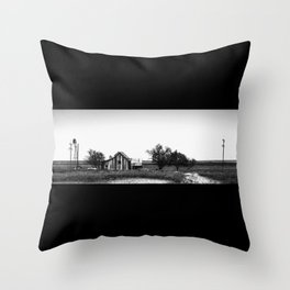 Remnants of the Dust Bowl Throw Pillow