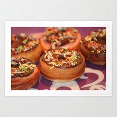 Funny Doughnuts Art Print