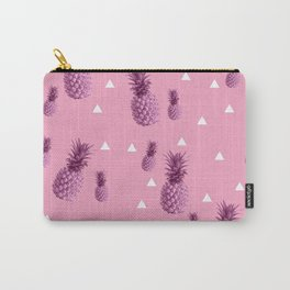 Summer tropical pink pineapple triangle pattern Carry-All Pouch