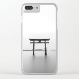 Japan Tori Landscape Clear iPhone Case
