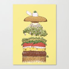 It's Burger Time! Canvas Print
