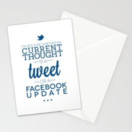 Social Media Stationery Cards