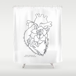 Flowering Left Atrium Shower Curtain