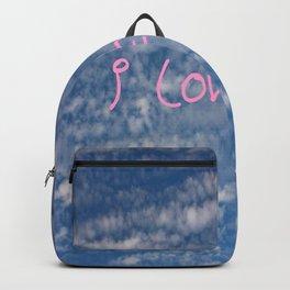 I love you,love,sky,cloud,girl, romantic,romantism,women,heart,sweet Backpack