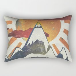 Mount Spitfire Rectangular Pillow