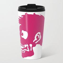 Zombie Head Metal Travel Mug