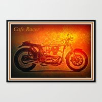 cafe racer Canvas Prints featuring Cafe Racer by elkart51
