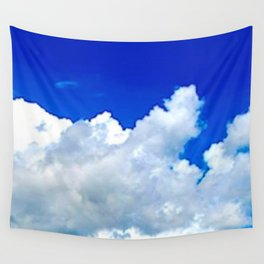 Clouds in a Clear Blue Sky Wall Tapestry