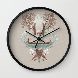 Ghosts of Scandinavia. Iceland. Wall Clock