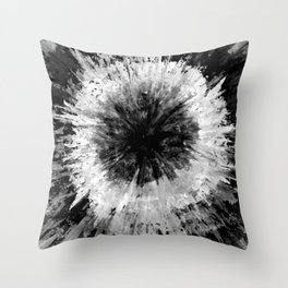 Black and White Tie Dye // Painted // Multi Media Throw Pillow