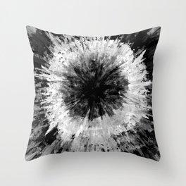 Black and White Tie Dye // Painted // Multi Media Throw Pillow
