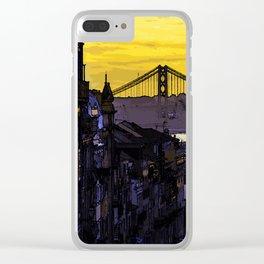 Lisbon Sunset Clear iPhone Case