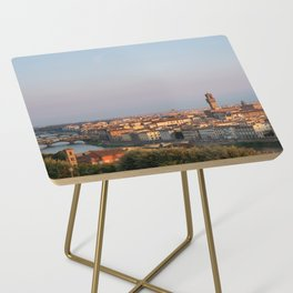 View of the city of Florence early in the morning. Side Table