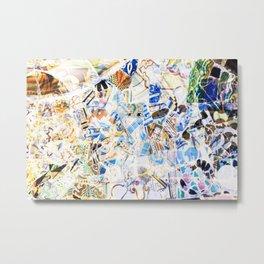 Mosaic of Barcelona Metal Print