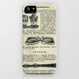 Vintage Page: Car Glasses iPhone Case