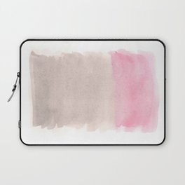 Grey & Pink Color Block Laptop Sleeve