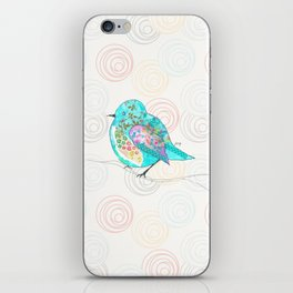 Quirk the Blue Bird iPhone Skin