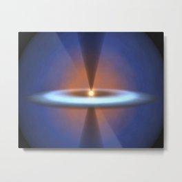 560. Steamy Solar System Metal Print