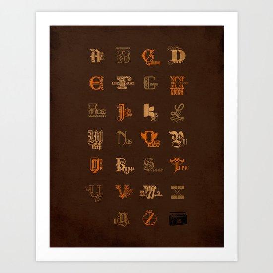 AZ to JayZ Art Print