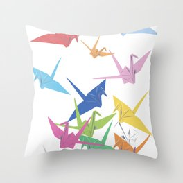 Pape Cranes Throw Pillow