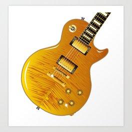 Maple Top Guitar Art Print