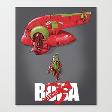 BobAkira (red with white text) Canvas Print
