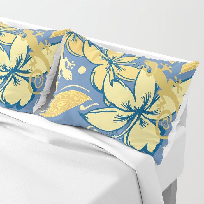Samoan Orchid Sunset Polynesian Floral Pillow Sham
