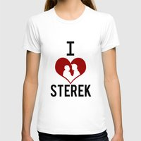sterek T-shirts featuring I love Sterek by JulietteGD