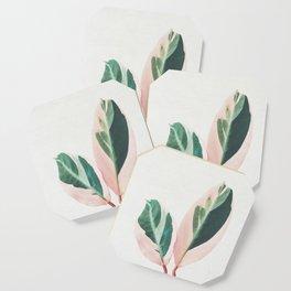 Pink Leaves I Coaster