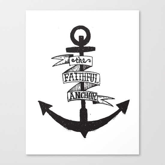 The Faithful Anchor Canvas Print