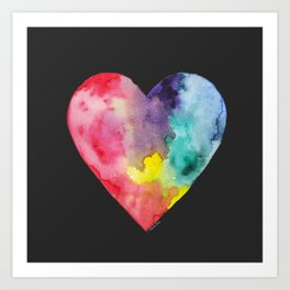 #LoveWins Watercolor Painting (Black) Art Print