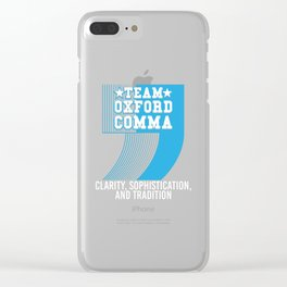 Team Oxford Comma Clear iPhone Case