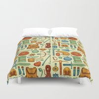 backpack Duvet Covers featuring Time for an Adventure by Sam Magee