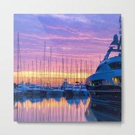 Sunrise in Antibes Metal Print
