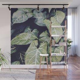 Jungle leaf - vintage Wall Mural