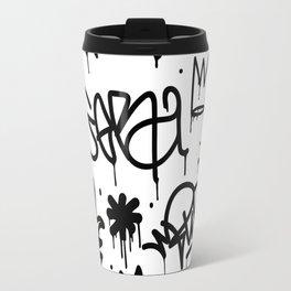 Crowns & Graffiti pattern Travel Mug