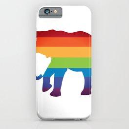LGBT Lesbian Gay Flag Pride Elephant iPhone Case