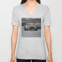 Race car black and white Unisex V-Neck
