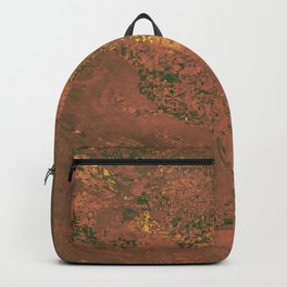 Gold Maroon Cali Fields Backpack