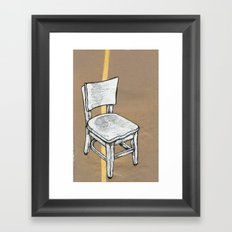 Right Chair Framed Art Print