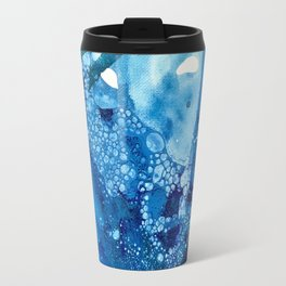 Environmental Blue Leaves, Tiny World Collection Travel Mug