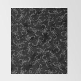 Scorpion Swarm II Throw Blanket
