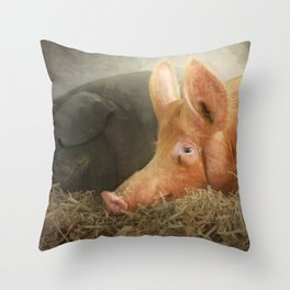 The next morning....the perils of drink! Throw Pillow