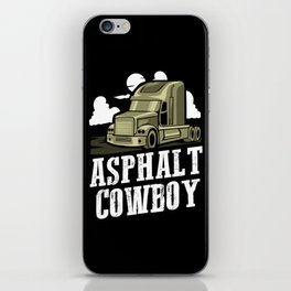 Asphalt Cowboy | Trucker iPhone Skin