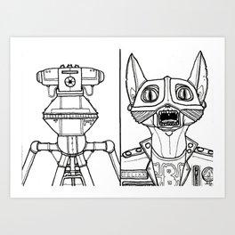 B&W Weirdos 46 Art Print