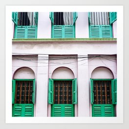 Open Windows - Kolkata Art Print