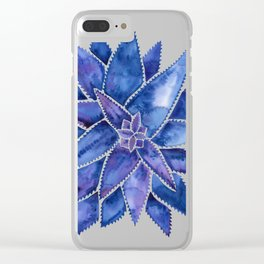 Aloe Vera – Navy Palette Clear iPhone Case