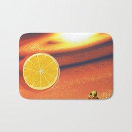 Orange planet Bath Mat