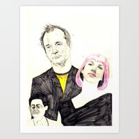 lost in translation Art Prints featuring lost in translation by withapencilinhand