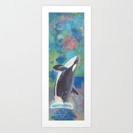 Breaching Orca Art Print